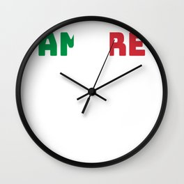 Love Amore Italy Valentine's Day gift Wall Clock