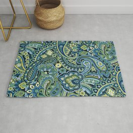 Paisley Forest Green Rug