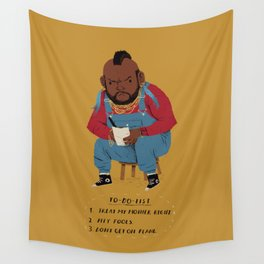 T to-do-list. Wall Tapestry