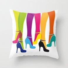 Bright High Heels Throw Pillow