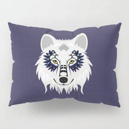 White Wolf - purple Pillow Sham