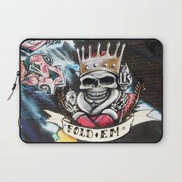 Las Vegas Skull Graffiti Laptop Sleeve