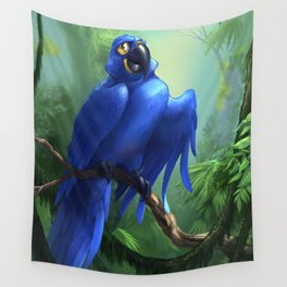 Moseley the Hyacinth Macaw Wall Tapestry