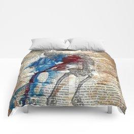 Vesalius mourning skeleton Comforters