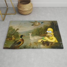 Bathing With Ducks Rug