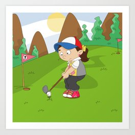 Non Olympic Sports: Golf Art Print