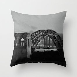 N Why Bridge Throw Pillow