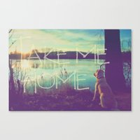 home sweet home Canvas Prints featuring HOME by Monika Strigel
