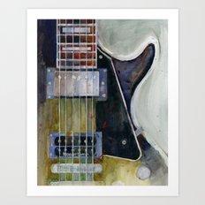 Les Paul Gibson Guitar Art Print