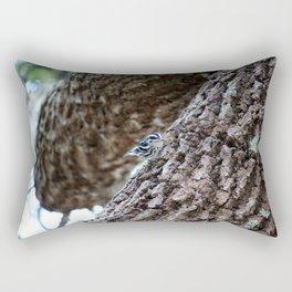 Black And White Warbler Rectangular Pillow