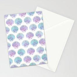 iridescent shells pattern Stationery Cards