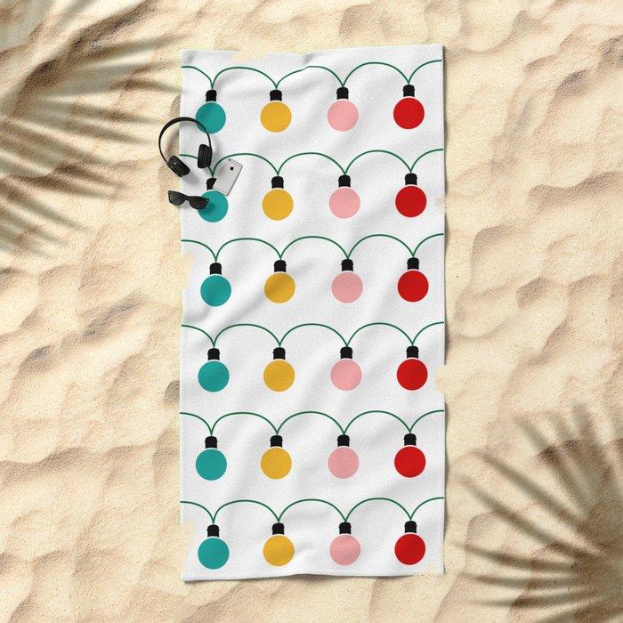 Christmas Light Beach Towel