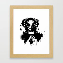 Jesus Graffiti with headphones and sunglasses Framed Art Print
