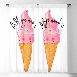 ALL YOU NEED IS ICE CREAM Blackout Curtain
