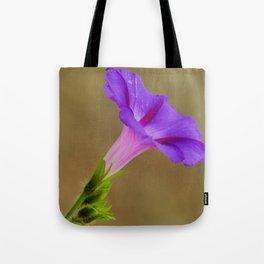Purple Morning Glory Tote Bag
