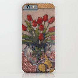 Eleven plus Three/ Dry Pastel Painting iPhone Case