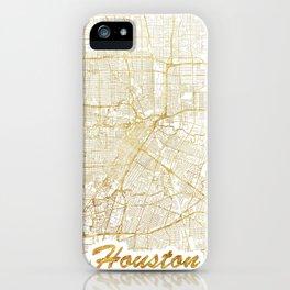 Houston Map Gold iPhone Case
