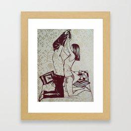 #hatetolove Framed Art Print