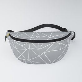 Abstraction Outline Grey Fanny Pack