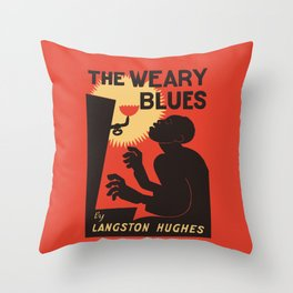 Retro The Weary Blues (music) Throw Pillow