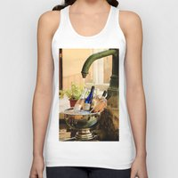 wine Tank Tops featuring Wine Cooler  by Phil Smyth