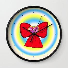 Ribbon Doodles Wall Clock