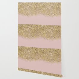 Pink and Gold Glitter Wallpaper