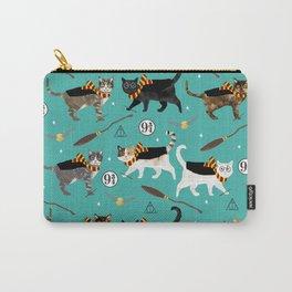 Cat wizard cats magic school pattern Tasche