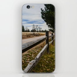 Country Wooden Fence Line iPhone Skin