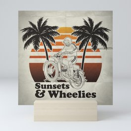 Sunsets & Wheelies Mini Art Print