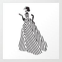 dress Art Prints featuring Dress by Yordanka Poleganova