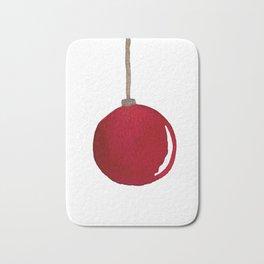 Red Ornament Bath Mat