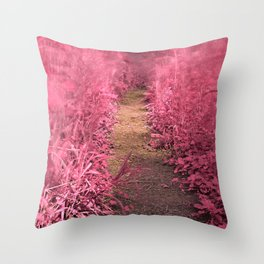Windy Goose Creek Trail - Tickle Me Pink Throw Pillow