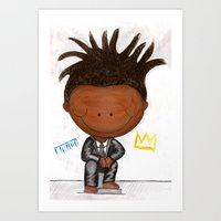basquiat Art Prints featuring BASQUIAT by LesliePinto