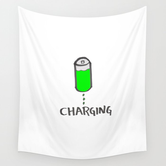 Battery charging Wall Tapestry