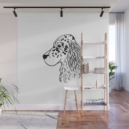 English Setter (Black and White) Wall Mural