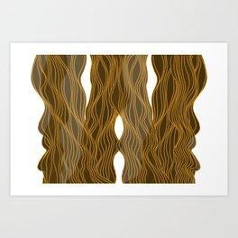 Parallel Lines No.: 03. - Brown, Symmetrical Art Print
