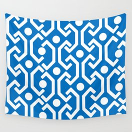 Ethnic Pattern (Blue) Wall Tapestry