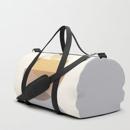 Abstraction Shapes 4 in Neutral Shades (Sun and Moon Phases) Duffle Bag