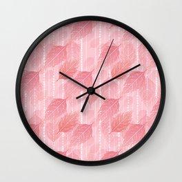 Boho Blush and Beads - Pink Wall Clock