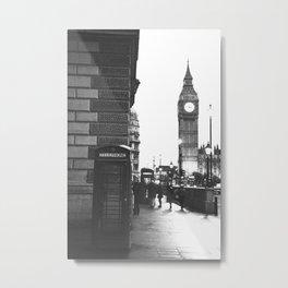Big Ben and Phone booth Metal Print