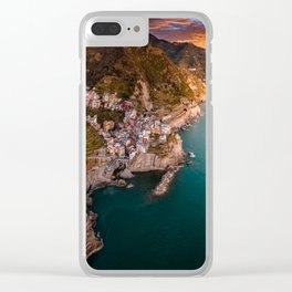Aerial above Cinque Terre, Italy Clear iPhone Case