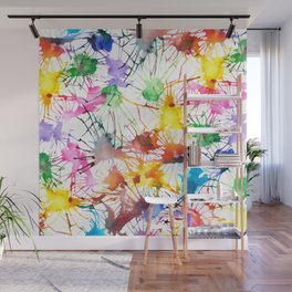 Watercolor Splashes Wall Mural