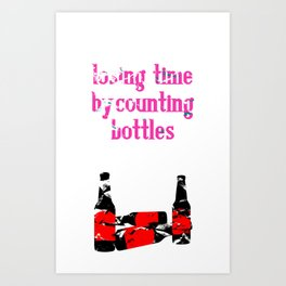 counting bottles Art Print