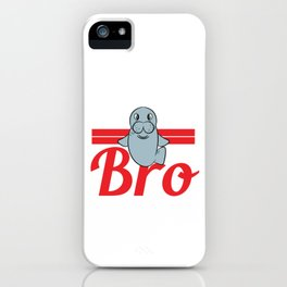 "A Sea Lion Tee Saying ""Come At Me Bro!"" T-shirt Design Sea Creatures Ocean Swim Cute Brothers iPhone Case"