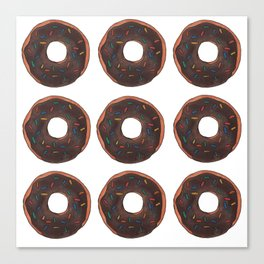 Chocolate Doughnuts Canvas Print