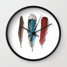 Bird Friends Feathers Study Wall Clock