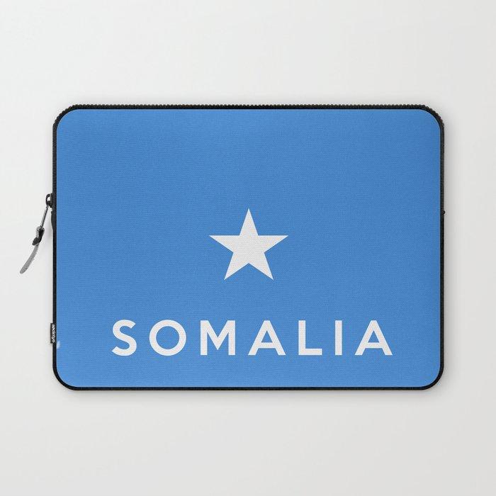 Somalia country flag name text Laptop Sleeve