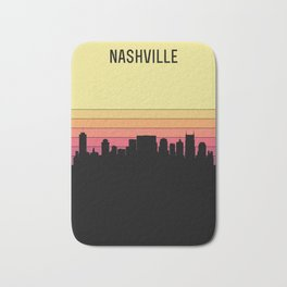 Nashville Skyline Bath Mat