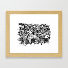 Inky Undergrowth Framed Art Print